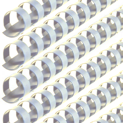 4000121G GBC CombBind 1-1/8 19 Ring Spiral GBC Plastic Comb Binds White 100 Pcs. Main Image