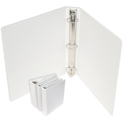 8310013 GBC Premium Clear Overlay 3 ring Binders 2.5 Inch D-ring White, 12  GBC 3-Ring Binders per