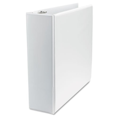 8310003 GBC Premium Clear Overlay 3 ring Binders 2 Inch, Round Ring White, 12 GBC 3-Ring Binders