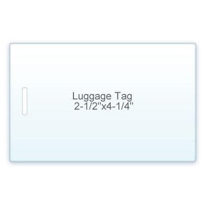 7 Mil. Luggage Tag Size lamination Pouch 2 1/2
