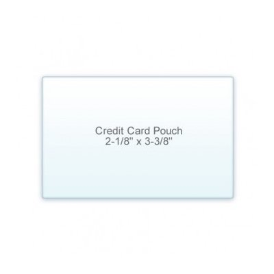 5 Mil Credit Card Size (2-1/8