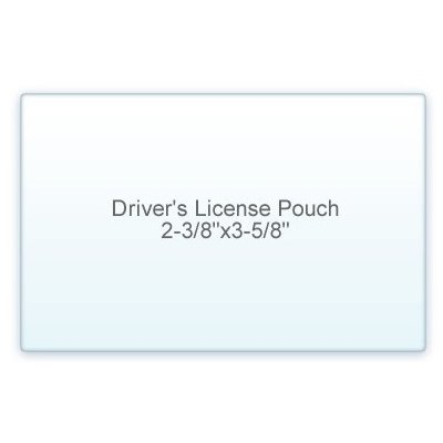 7 Mil. Drivers License Size lamination Pouch (2 3/8