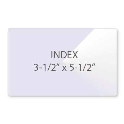 7 Mil Index/File Card Size (3-1/2