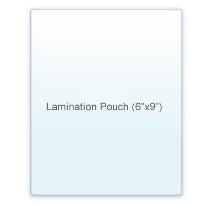 10 Mil. Half Page Lamination Pouch  (6
