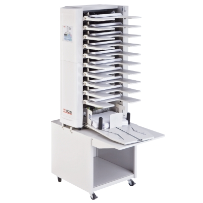 Maxxum 6 Bin Electric Vertical Collator has been replaced by the MBM FC 10 Vertical Collator