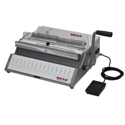Renz SRW Comfort Electric Wire-O Punch & binder